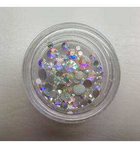 Strass Clear MIX reflets AB