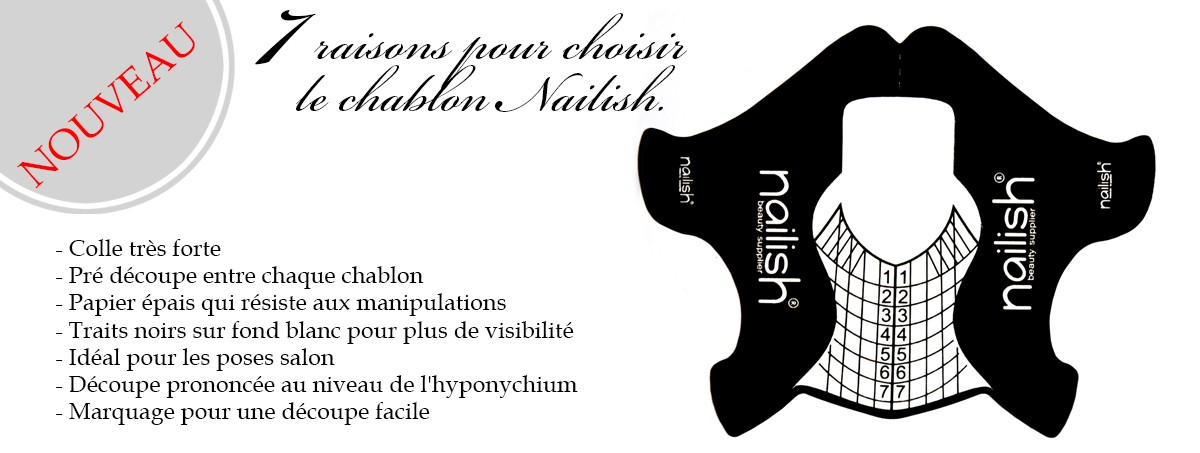 Chablons Pose Salon Nailish 400 pcs
